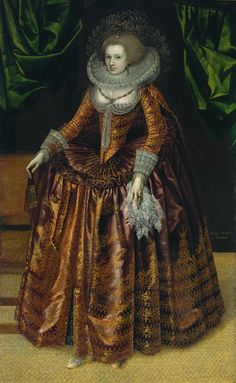 """Portrait of Anne Wortley, later Lady Morton"", c. 1620, by an unknown British artist. The portrait may have been produced by painters collaborating in a workshop, rather than by a single artist."
