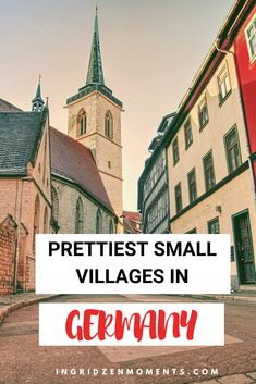 Pretty small German villages you need to see on your next trip through Germany. Colorful buildings, small squares, and full of history. Germany Destinations, Bucket List Destinations, Travel Destinations, Europe Travel Tips, Places To Travel, Places To Visit, Romantic Road, German Village, Germany Castles