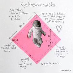 Rychlozavinovačka - brydova.cz Diy And Crafts Sewing, Sewing Projects For Kids, Baby Crafts, Sewing For Kids, Crochet Animal Patterns, Stuffed Animal Patterns, Baby Patterns, Baby Shower Items, Patchwork Baby