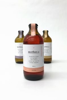differently flavoured kombucha brewed with different types of cannabis offering the consumer different effects for various needs throughout the day. Kombucha Bottles, Kombucha Tea, Kombucha Cocktail, Beverage Packaging, Bottle Packaging, Food Packaging, Design Packaging, Packaging Ideas, Jar Labels