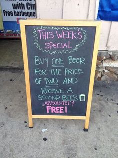 Best Bar Signs Around the Country | The Daily Meal...Hahaha love this sign, makes you re-read it, very creative.~Dez