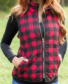 Buffalo Plaid Vest Our Size Bust Length S 34.65 20.08 M 36.22 20.47 L 37.80 20.87 XL 39.37 21.26   ***This item ships directly from the manufacturer. Please all