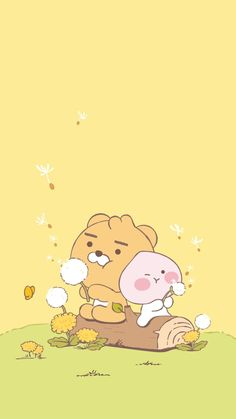 Nursery Wallpaper, Iphone Background Wallpaper, Kakao Friends, Friends Wallpaper, Cute Wallpapers, Pikachu, Cartoon, Peaches, Fictional Characters