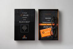 Apptio Black Box Promotional Kit via @Matty Chuah Dieline
