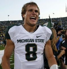 Michigan State quarterback Kirk Cousins picked as O'Brien award semifinalist Michigan State Football, Western Michigan, Football Fans, College Football, Matt Barkley, Brian Hoyer, Kirk Cousins, Msu Spartans