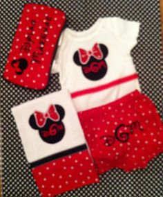 Monogrammed Baby Gift Set Includes by ButtonsAndBritches on Etsy, $48.00