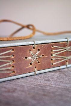 Bookbinding Modified, Bookbinding Leather, Cycle Idea, Bookbinding Stitching, Encuadernacion, Bookbinding Stitches, Leather Book, Leather Belts