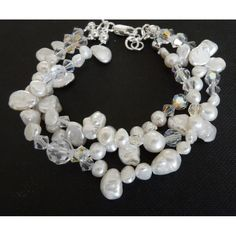 Design Brautschmuck Perlen Kristall Armband Hochzeit