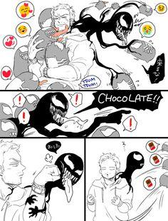 Veddie is love Veddie is life Venom Comics, Marvel Dc Comics, Marvel Heroes, Marvel Avengers, Funny Marvel Memes, Avengers Memes, Marvel Jokes, Venom Spiderman, Marvel Venom
