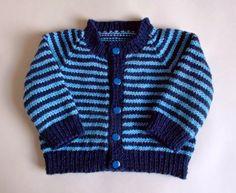 Sporty Simple Stripe Baby Cardigan