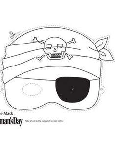 Printable Halloween Masks, Printable Masks, Halloween Crafts, Easy Halloween, Pirate Birthday, Pirate Theme, Pirate Face, Pirate Activities, Pirate Crafts