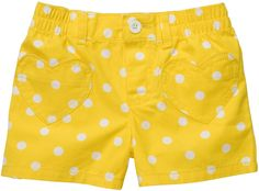 Carters Toddler Woven Pull On Short - Yellow - Free Shipping