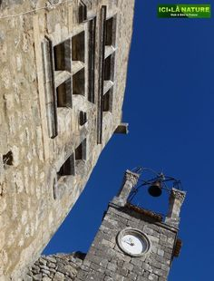 Lacoste...You look up and you see this...You're in the Luberon in Provence....  http://icietlanature.com/tour/3-self-guided-tour-in-provence-and-luberon