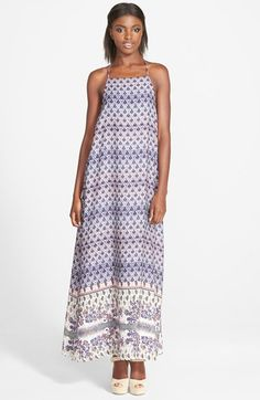 Leith+Print+Maxi+Dress+available+at+#Nordstrom
