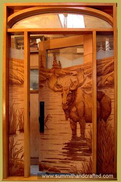 Carved Wood Doors - Summit Log and Timber Homes, Inc.