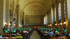 The Boston Public Library    http://www.time.com/time/travel/cityguide/article/0,31489,1984920_1984917_1984820,00.html