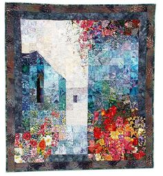 Water color looking quilt. Awesome.