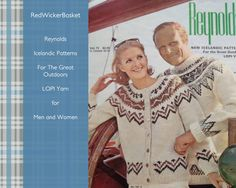 Icelandic Knitting Patterns, Vintage Reynolds Icelandic Patterns Vol. 72, Knitted Cardigan, Knitted Pullover Sweaters for Men and Women