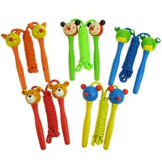 - Outdoor Toys and Games Ladybird Handles Pack of 2 Bigjigs Toys Coloured Skipping Rope