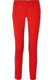 Samantha stretch-wool gabardine slim-leg pants