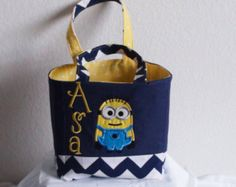 Despicable me Minion Dress birthday gift by CreativeBagsForKids
