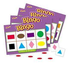 Bingo Colors & Shapes Ages 4 & Up