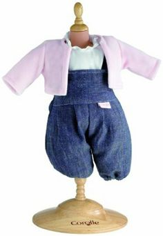 """Corolle Classic 14"""" Baby Doll Fashions (Denim Set) by Corolle. Save 35 Off!. $17.65. Every Corolle doll is created with emotion, expertise and French style. Denim with a feminine flair, the ruffle trim adorning the collar and the sweet pink sweater complete the look for your 14"""" Corolle baby doll. At Corolle we bring caring, savoir-faire and style to everything we create, so that every little girl can find the doll of her dreams in our collection. Every Corolle doll is styled in..."""