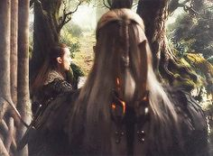 This scene is so intense even though all you see is Legolas's fabulous braid! :)