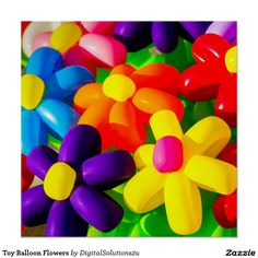 Toy Balloon Flowers Poster