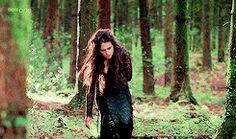 Morgana wearing her lacey black dress (gif set)