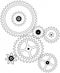 Cogs, Cog, Wheel, Drawing, Gear, Gears, Mechanism