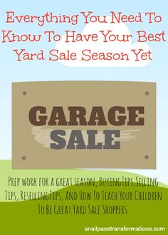 Everything you needed to know about buying and selling at yard sales is all here in this one article.