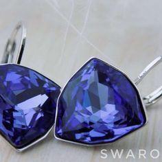 Новый💜Яркий💜Насыщенный триллиант💜 💜Серьги с кристаллами Swarovski (12mm) 💜Гипоаллергенный и долговечный металл. 💜1500₽ 💜Доставка по всему миру 💜По заказам: Direkt/What's App/Viber 8(916)441-00-52 Все цвета триллианта под хэштегом #сварокатриллиант12