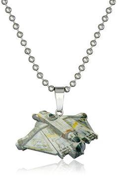 "Star Wars Jewelry Rebel Ghost Ship Chain Pendant Necklace, 16"" Star Wars Jewelry"