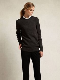 Zady .01 .01 The Sweater-Charcoal