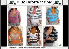 Busos Lacoste com ziper