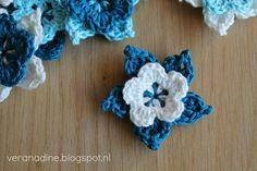 Geniet van ieder moment: Picot Bloem Crochet Flower Patterns, Flower Applique, Crochet Flowers, Diy Crochet, Crochet Doilies, Crochet Ideas, Crochet Hair Accessories, Crochet Stars, Yarn Inspiration