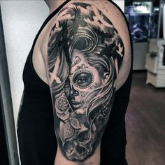 5955b943c7a01 64 Best Day of the dead girl tattoo images in 2019 | Drawings ...