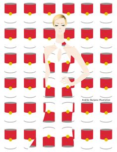 Fashion Textures: Iconic Artists by Andrés Quijano, via Behance
