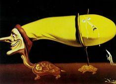 Salvador Dali >> Sorcellerie - The Seven Arts, 1957 | (huile, reproduction, copie, tableau, oeuvre, peinture).