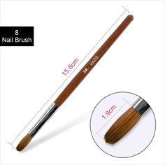 ACRYLIC Brush Nail Art Supply – SAINTCHiC Acrylic Nail Brush, Acrylic Brushes, Nail Art Brushes, Shiny Nails, Uv Gel Nails, Gel Nail Art, Nail Polish, Nail Art Supplies, Nail Art Tools