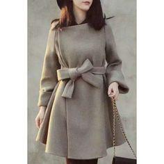 ladylike belted coat