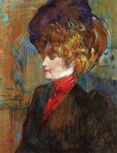 The Athenaeum - Head of an English Lady (Henri de Toulouse-Lautrec - )
