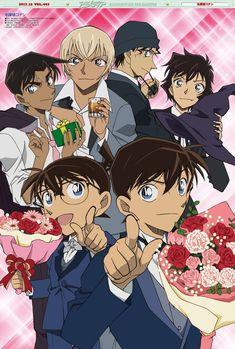 My boys ♥,♥ (nosebleed) .and Sera-chan :p Konan, Super Manga, Conan Comics, Detective Conan Wallpapers, Kaito Kuroba, Kaito Kid, Amuro Tooru, Kudo Shinichi, Case Closed