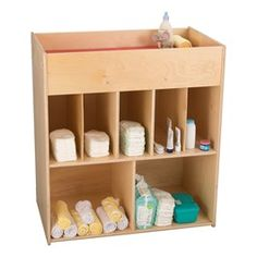 Economy Daycare Changing Station w/ Shelves