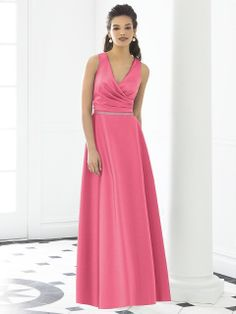 After Six 6648 Pink Bridesmaid dress  full lenght  v-neck  MODELBRIDE - After Six Bridesmaid Style 6648, $210.80 (http://www.modelbride.com/after-six-bridesmaid-style-6648/) #Fulllengthbridesmaiddress