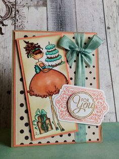 Stamping Bella Uptown Girls Birthday Card by TrinityRoseDesigns29, $5.00