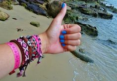 Bright blue nails on a seaside adventure. Submitted via Facebook by Elle Krstic.