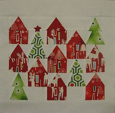 Ooh - a Christmas quilt - love it.