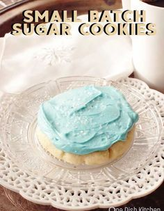 This is the best small batch sugar cookies recipe! This small batch recipe is definitely one for your recipe box. These soft, lofthouse style sugar cookies melt in your mouth and are topped with a rich buttercream frosting.